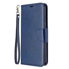 Funda de Cuero Cartera con Soporte Carcasa L03 para Huawei Honor 9A Azul