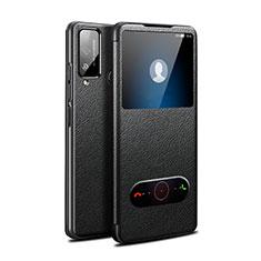 Funda de Cuero Cartera con Soporte Carcasa L03 para Huawei Honor Play4T Negro