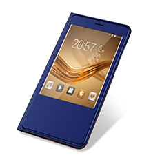 Funda de Cuero Cartera con Soporte Carcasa L03 para Huawei Honor V8 Max Azul