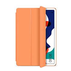 Funda de Cuero Cartera con Soporte Carcasa L03 para Huawei MatePad 5G 10.4 Naranja