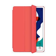 Funda de Cuero Cartera con Soporte Carcasa L03 para Huawei MatePad 5G 10.4 Rojo