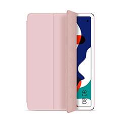 Funda de Cuero Cartera con Soporte Carcasa L03 para Huawei MatePad 5G 10.4 Rosa