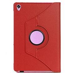 Funda de Cuero Cartera con Soporte Carcasa L03 para Huawei MediaPad M6 8.4 Rojo
