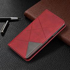 Funda de Cuero Cartera con Soporte Carcasa L03 para LG V50 ThinQ 5G Rojo