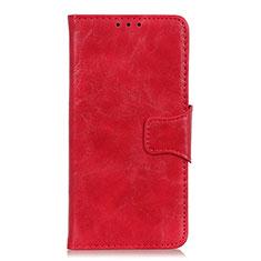 Funda de Cuero Cartera con Soporte Carcasa L03 para Motorola Moto G8 Power Rojo