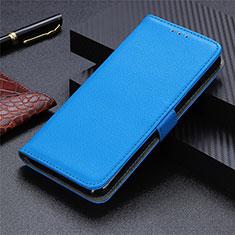 Funda de Cuero Cartera con Soporte Carcasa L03 para Motorola Moto G9 Plus Azul Cielo