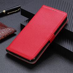 Funda de Cuero Cartera con Soporte Carcasa L03 para Motorola Moto G9 Plus Rojo