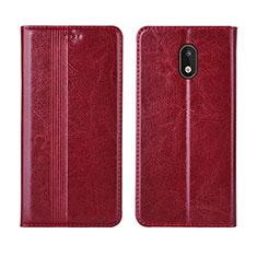 Funda de Cuero Cartera con Soporte Carcasa L03 para Nokia 1.3 Rojo