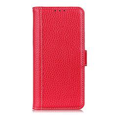 Funda de Cuero Cartera con Soporte Carcasa L03 para Nokia C1 Rojo