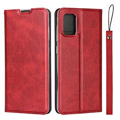 Funda de Cuero Cartera con Soporte Carcasa L03 para Samsung Galaxy A51 4G Rojo