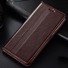 Funda de Cuero Cartera con Soporte Carcasa L03 para Samsung Galaxy A81 Marron