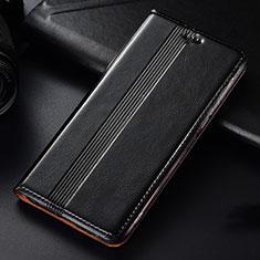 Funda de Cuero Cartera con Soporte Carcasa L03 para Samsung Galaxy A81 Negro