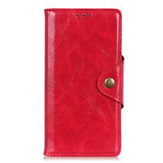 Funda de Cuero Cartera con Soporte Carcasa L03 para Samsung Galaxy M21s Rojo