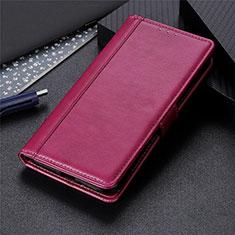Funda de Cuero Cartera con Soporte Carcasa L03 para Samsung Galaxy S21 Ultra 5G Rojo Rosa