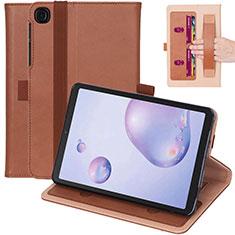 Funda de Cuero Cartera con Soporte Carcasa L03 para Samsung Galaxy Tab A7 Wi-Fi 10.4 SM-T500 Marron