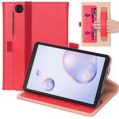 Funda de Cuero Cartera con Soporte Carcasa L03 para Samsung Galaxy Tab A7 Wi-Fi 10.4 SM-T500 Rojo