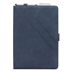 Funda de Cuero Cartera con Soporte Carcasa L03 para Samsung Galaxy Tab S5e Wi-Fi 10.5 SM-T720 Azul