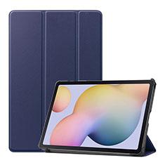 Funda de Cuero Cartera con Soporte Carcasa L03 para Samsung Galaxy Tab S7 11 Wi-Fi SM-T870 Azul
