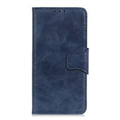 Funda de Cuero Cartera con Soporte Carcasa L03 para Samsung Galaxy XCover Pro Azul