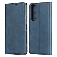 Funda de Cuero Cartera con Soporte Carcasa L03 para Sony Xperia 1 II Azul