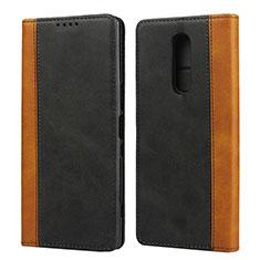 Funda de Cuero Cartera con Soporte Carcasa L03 para Sony Xperia 1 Negro