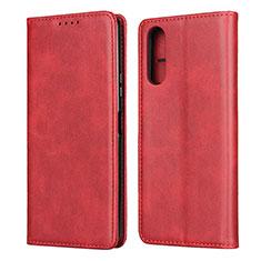 Funda de Cuero Cartera con Soporte Carcasa L03 para Sony Xperia 10 II Rojo