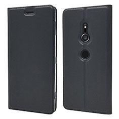 Funda de Cuero Cartera con Soporte Carcasa L03 para Sony Xperia XZ2 Negro