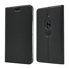 Funda de Cuero Cartera con Soporte Carcasa L03 para Sony Xperia XZ2 Premium Negro