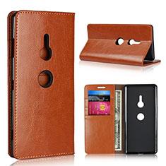 Funda de Cuero Cartera con Soporte Carcasa L03 para Sony Xperia XZ3 Naranja