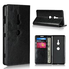 Funda de Cuero Cartera con Soporte Carcasa L03 para Sony Xperia XZ3 Negro