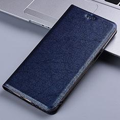 Funda de Cuero Cartera con Soporte Carcasa L03 para Vivo X50e 5G Azul
