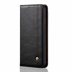 Funda de Cuero Cartera con Soporte Carcasa L03 para Xiaomi Mi Note 10 Lite Negro