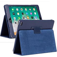 Funda de Cuero Cartera con Soporte Carcasa L04 para Apple iPad 10.2 (2020) Azul