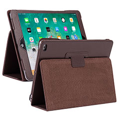 Funda de Cuero Cartera con Soporte Carcasa L04 para Apple iPad 10.2 (2020) Marron