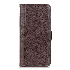 Funda de Cuero Cartera con Soporte Carcasa L04 para Apple iPhone 12 Pro Marron