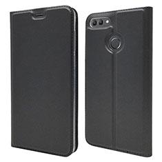 Funda de Cuero Cartera con Soporte Carcasa L04 para Huawei Enjoy 8 Plus Negro