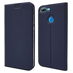 Funda de Cuero Cartera con Soporte Carcasa L04 para Huawei Honor 9 Lite Azul