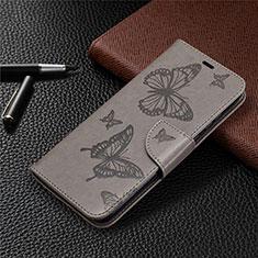 Funda de Cuero Cartera con Soporte Carcasa L04 para Huawei Honor 9A Gris