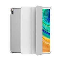 Funda de Cuero Cartera con Soporte Carcasa L04 para Huawei MatePad Blanco