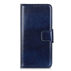 Funda de Cuero Cartera con Soporte Carcasa L04 para LG K62 Azul