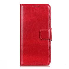 Funda de Cuero Cartera con Soporte Carcasa L04 para LG Q52 Rojo