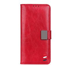 Funda de Cuero Cartera con Soporte Carcasa L04 para Motorola Moto G9 Plus Rojo