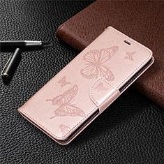 Funda de Cuero Cartera con Soporte Carcasa L04 para Nokia 5.3 Oro Rosa