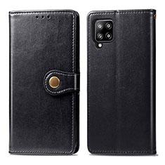 Funda de Cuero Cartera con Soporte Carcasa L04 para Samsung Galaxy A42 5G Negro