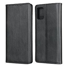 Funda de Cuero Cartera con Soporte Carcasa L04 para Samsung Galaxy A51 4G Negro
