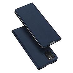 Funda de Cuero Cartera con Soporte Carcasa L04 para Samsung Galaxy A81 Azul