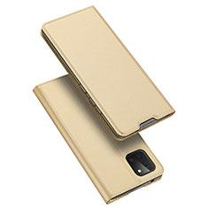 Funda de Cuero Cartera con Soporte Carcasa L04 para Samsung Galaxy A81 Oro