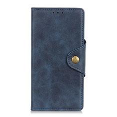 Funda de Cuero Cartera con Soporte Carcasa L04 para Samsung Galaxy M21s Azul