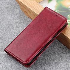 Funda de Cuero Cartera con Soporte Carcasa L04 para Samsung Galaxy S21 Ultra 5G Rojo Rosa