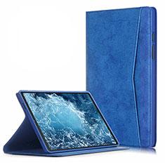 Funda de Cuero Cartera con Soporte Carcasa L04 para Samsung Galaxy Tab A7 Wi-Fi 10.4 SM-T500 Azul